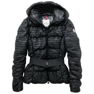 Moncler Black Apex Down Belted Jacket