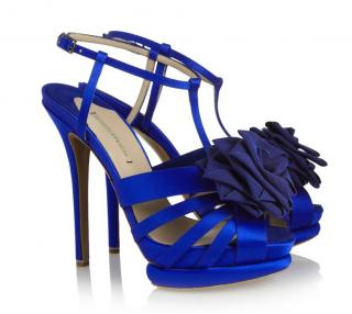 Nicholas Kirkwood Blue Satin Sandals