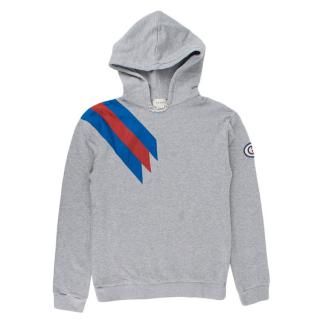 Gucci Yr12 Grey Hoodie With Nylon Stripe