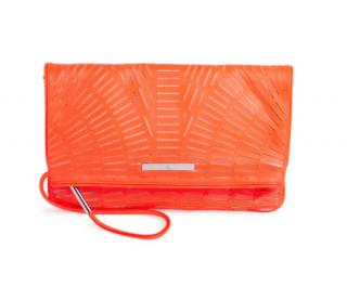 McQ Lasercut Foldover Coral Clutch & Wallet