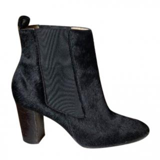Christian Louboutin Glossy Calf Hair Ankle Boots