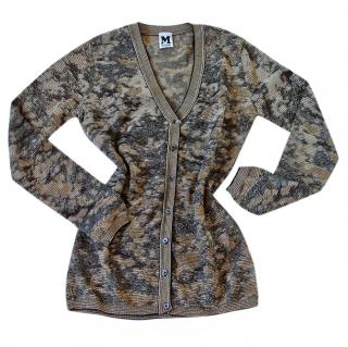 M Missoni Camo Knit Cardigan