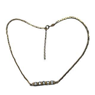 Christian Dior Vintage short crystal necklace
