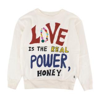 Bellerose 12Y White Love Banzi Sweatshirt