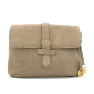 Loro Piana Suede Clutch Bag