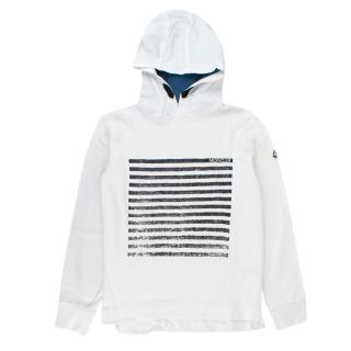 Moncler Y12 White Striped Hoodie