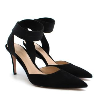 Gianvito Rossi Suede Ankle Wrap Pumps