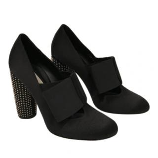 Stella McCartney Black Microstud Block Heel Booties