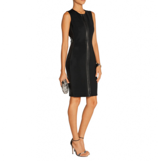 Reed Krakoff Leather & Jersey Black Dress