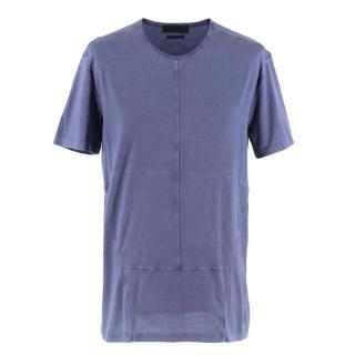 Alexander McQueen Blue Washed T-Shirt