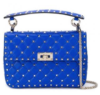 Valentino Garavani Rockstud Spike Crossbody Bag in Blue