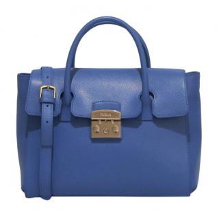 Furla Blue Metropolis Tote Bag