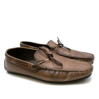 Tod's Brown Gommino Leather Loafers