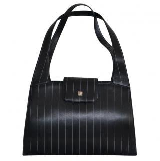 Gianni Versace vintage black & white striped tote bag
