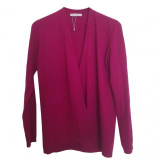 Max Mara Pink Wool Cardigan