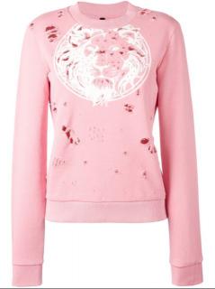 Versus Versace Distressed Logo Sweatshirt