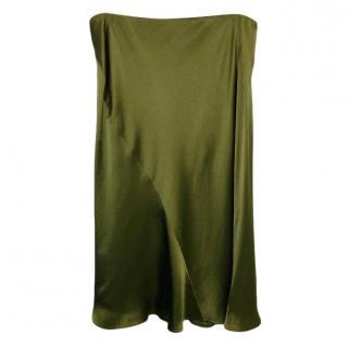 Ralph Lauren Green Satin Skirt