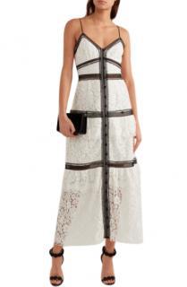 Self Portrait Corded Lace Maxi Dress