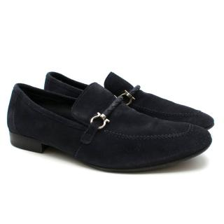 Salvatore Ferragamo Blue Velvet Loafer
