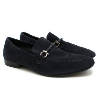 Salvatore Ferragamo Blue Velvet Loafer