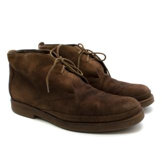 Loro Piana Brown Suede Vars Desert Boot