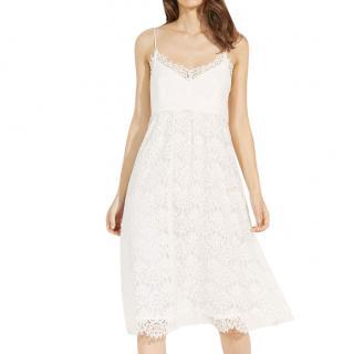 Claudie Pierlot Cream Lace Midi Dress
