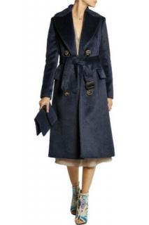 Burberry Prorsum brushed alpaca and virgin wool runway coat