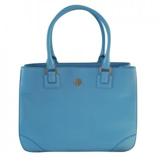 Tory Burch Blue Robinson Tote Bag