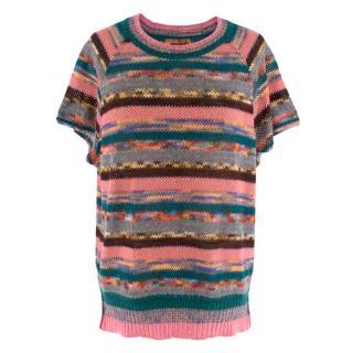 Missoni Striped Knit Short Sleeve Top