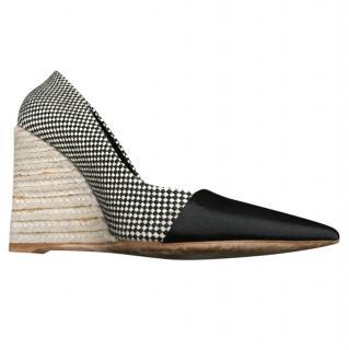 Dior Black & White Espadrille Wedges