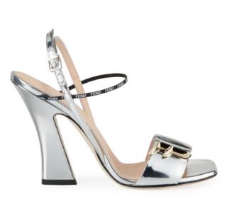 Fendi F Freedom Metallic 105mm Sandals