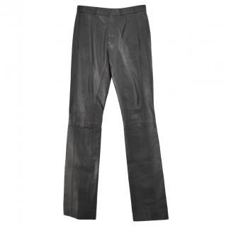 Balenciaga Black Leather Biker Pants