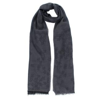 Mulberry Grey Tree Print Scarf