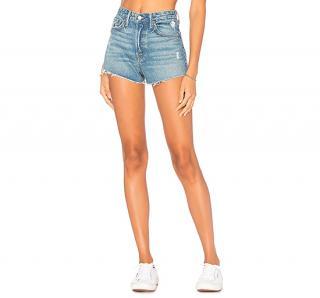 GRLFRND Cindy High-Rise Denim Shorts