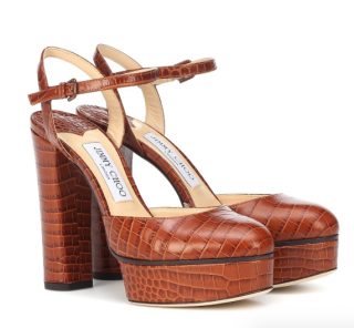 Jimmy Choo Maple 125 croc-effect leather pumps