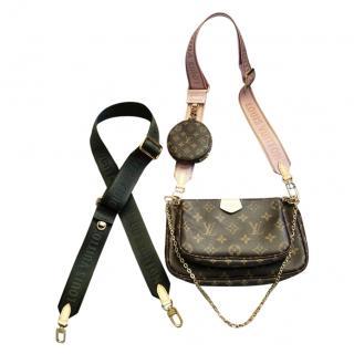 Louis Vuitton Pochette Accessoires Bag W/ Additional Khaki Strap