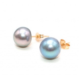 John Hardy Tahitian Pearl 14kt Gold Stud Earrings