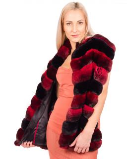 FurbySD Red & Black Chinchilla Fur Stole