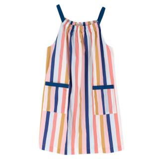 Bonpoint 12Y Striped Cotton Dress