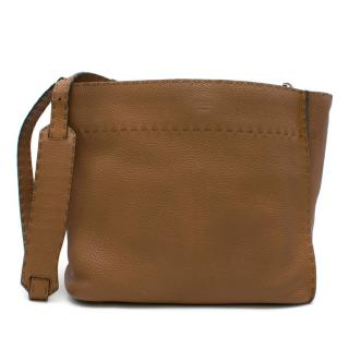 Fendi Brown Selleria Anna Bucket Bag