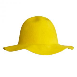 Burberry Prorsum rabbit felt yellow hat