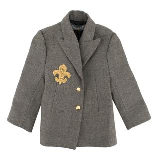 Nadya Shah Child's Herringbone Tailored Blazer