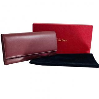 Cartier Burgundy Double C Cut-Out Wallet