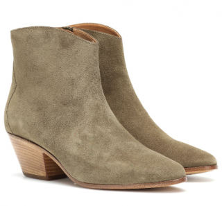 Isabel Marant Taupe Dacken suede ankle boots