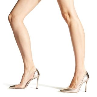 Jimmy Choo metallic gold pumps