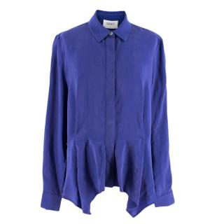 Sankt Blue Asymmetric Hem Shirt