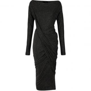 Vivienne Westwood Anglomania Black & Gold Draped Dress