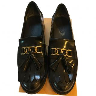 Tod's Black Fringed Brogues