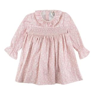 Pepa & Co Pink/White Handsmocked Dress