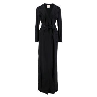 Lanvin Black Silk Wrap Gown